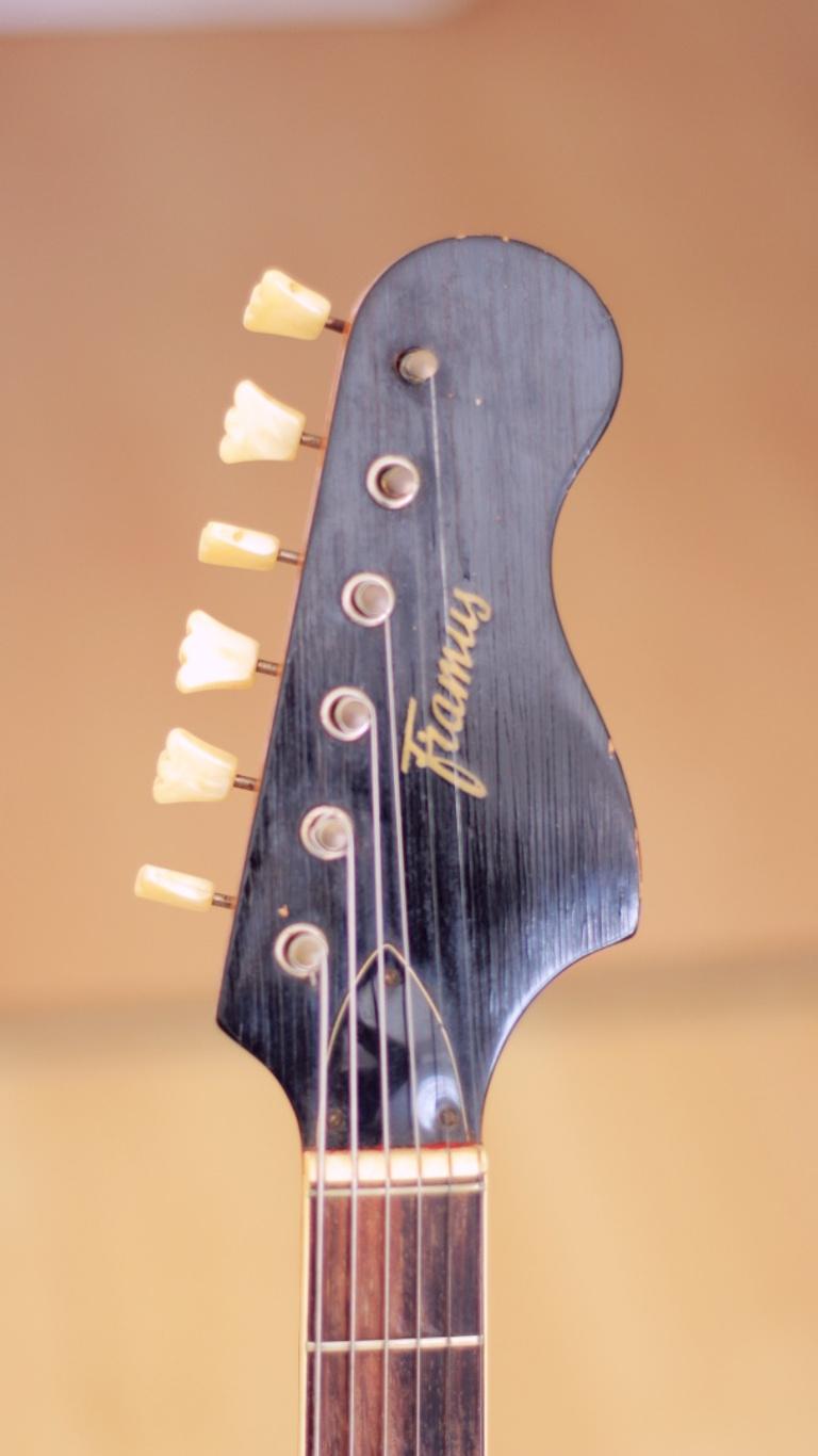 Framus Golden Strato de Luxe – 1960s vintage guitar headstock